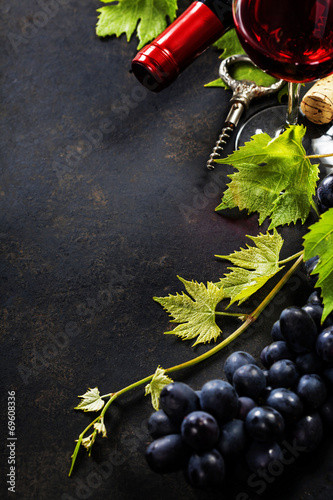 canvas print picture Wine and grape