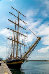 Yacht on the harbor