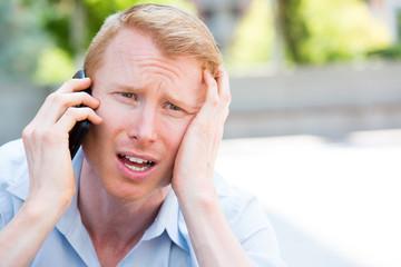 Bad news on phone