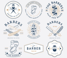 Barber style colored