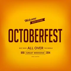 Octoberfest festival typographic vintage retro style vector