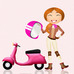 girl motorcyclist