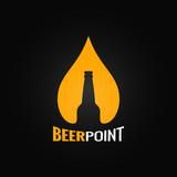 Fototapety beer glass bottle drop design background