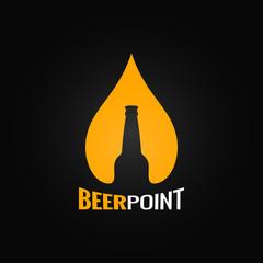 beer glass bottle drop design background