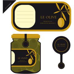 Etichetta per le olive