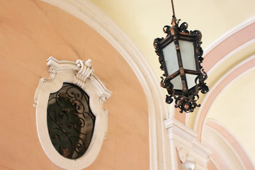 Lamp and a window in the entrance hall