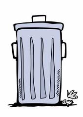 doodle trash bin
