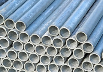 iron pipes for the transport of electrical cables