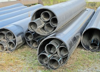 plastic pipes for transporting water and gas