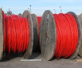 electrical cable reels for the transport of electricity high vol