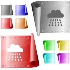 Rain. Vector metal surface.