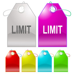 Limit. Vector tags.