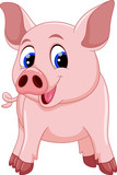 Fototapety Cute pig cartoon