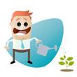 gießen pflanze wachstum business mann
