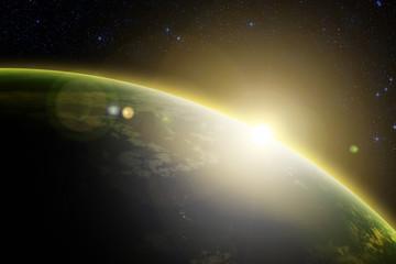 Sunrise over Earth.