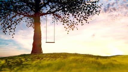 swing blowing in the wind