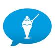 Etiqueta tipo app azul comentario simbolo helado