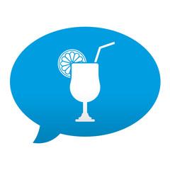 Etiqueta tipo app azul comentario simbolo combinado