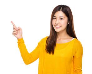 Female finger up