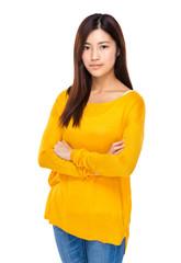 Asian female cross arm