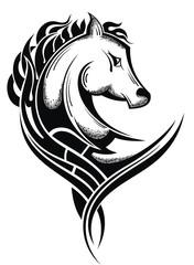 Horse head.Tattoo