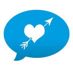 Etiqueta tipo app azul comentario simbolo amor