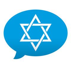 Etiqueta tipo app azul comentario simbolo Estrella de David