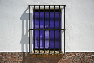 Window of a house in a village in southern Spain
