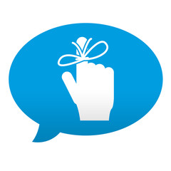 Etiqueta tipo app azul comentario simbolo memoria