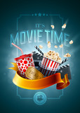 Fototapety Movie concept poster design template
