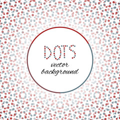 Red and blue dots - vector background