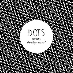Black and white dotted design