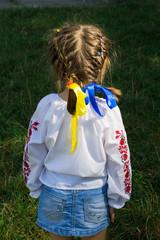 Little girl in Ukrainian blousel