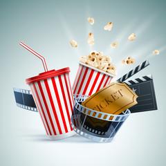 Cinema concept illustration