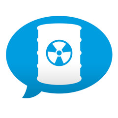 Etiqueta tipo app azul comentario simbolo residuos
