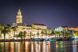 Split - Croatia, at night with Diocletian palace - 69614998