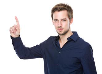 Man finger up
