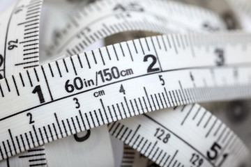 Tape measure close-up