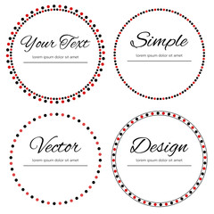 Four dotted circles for your text - vector design