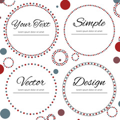 Set of four dotted circles with place for your text