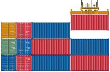 Container laden und verschicken