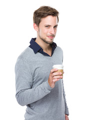 Man hold with coffee cup