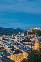Salzburg general view as seen from Mönchsberg viewpoint, Austri