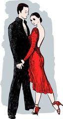 romantic couple dancing