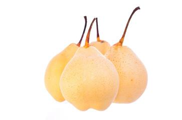 Pear in closeup
