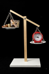 Clock and Currency Time is Money Concept