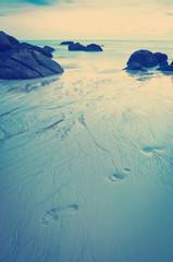 Beach at Dusk Instagram Style