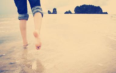Beach Walking Instagram Style