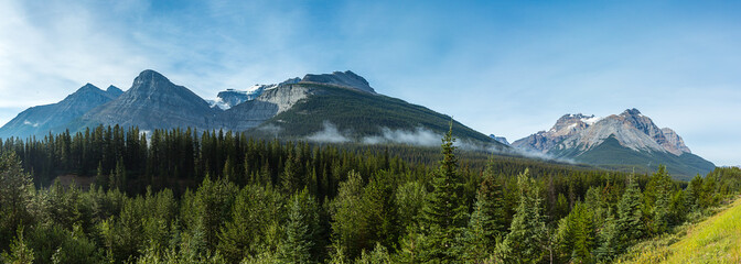 Canadian Rocky mountains panorama