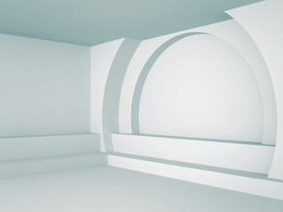 Abstract Interior Architecture Blue Background